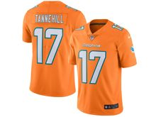 Mens Nfl Miami Dolphins #17 Ryan Tannehill Orange Vapor Untouchable Color Rush Limited Player Jersey