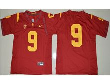 Mens Ncaa Nfl Usc Trojans #9 Juju Smith-schuster Red Jersey