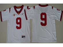 Mens Ncaa Nfl Usc Trojans #9 Juju Smith-schuster White Jersey