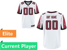 Mens Atlanta Falcons White Elite Current Player Jersey