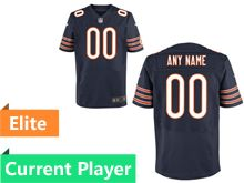 Mens Chicago Bears Blue Elite Current Player Jersey