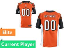 Mens Cincinnati Bengals Orange Elite Current Player Jersey