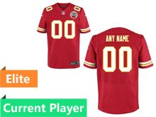 Mens Kansas City Chiefs Red Elite Current Player Jersey