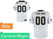 Mens New Orleans Saints White Elite Current Player Jersey