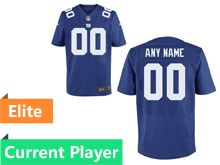 Mens New York Giants Blue Elite Current Player Jersey