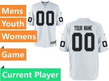 Mens Women Youth Nfl Oakland Raiders White Game Current Player Jersey
