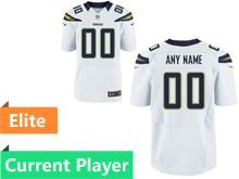 Mens Los Angeles Chargers White Elite Current Player Jersey