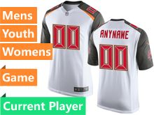 Mens Women Youth Nfl Tampa Bay Buccaneers White Game Current Player Jersey