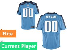Mens Tennessee Titans Light Blue Elite Current Player Jersey