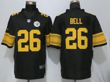 Mens   Pittsburgh Steelers #26 Le'veon Bell Black Color Rush Limited Jersey