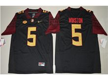 17c63bb8b Mens Ncaa Nfl Florida State Seminoles  5 Jameis Winston Black Limited Jersey
