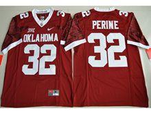 Mens Ncaa Nfl Oklahoma Sooners #32 Samaje Perine Red Limited Jersey