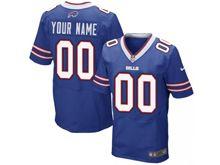 Mens Buffalo Bills Custom Made Blue Elite Jersey