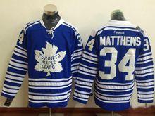 Mens Reebok Toronto Maple Leafs #34 Auston Matthews Blue Winter Heritage Classic Jersey