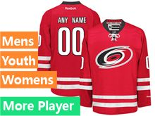 Mens Women Youth Reebok Carolina Hurricanes Red Home Premier Current Player Jersey