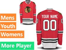 Mens Women Youth Reebok Chicago Blackhawks Red Home Premier Current Player Jersey