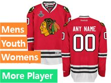 Mens Women Youth Reebok Chicago Blackhawks Red 2015 Stanley Cup Champions Current Player Jersey