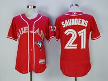 mens majestic toronto blue jays #21 michael saunders red Flex Base jersey