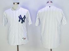 Mens Mlb New York Yankees Blank White Stripe Cool Base Jersey