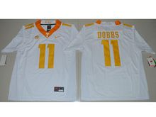 Mens Ncaa Nfl Tennessee Volunteers #11 Joshua Dobbs White Limited Jersey