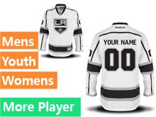 Mens Women Youth Reebok Los Angeles Kings White Away Premier Current Player Jersey