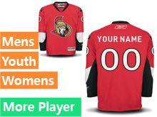 Mens Women Youth Reebok Ottawa Senators Red Home Premier Current Player Jersey