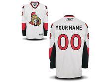 Nhl Ottawa Senators (custom Made) White Jersey