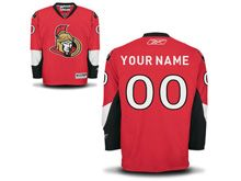 Nhl Ottawa Senators (custom Made) Red Jersey