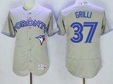 Mens Majestic Toronto Blue Jays #37 Jason Grilli Gray Flex Base Jersey