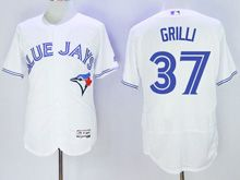 Mens Majestic Toronto Blue Jays #37 Jason Grilli White Flex Base Jersey