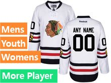 Mens Women Youth Reebok Chicago Blackhawks White 2017 Winter Classic Current Player Jersey