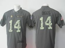 Mens Minnesota Vikings #14 Stefon Diggs Black 2016 Salute To Service Limited Jersey