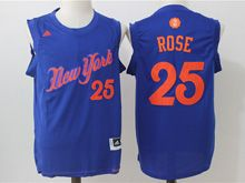 Mens Adidas Nba New York Knicks #25 Derrick Rose Blue 2016 Christmas Day Jersey