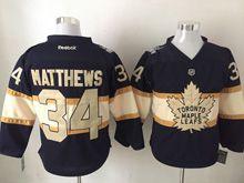 Mens Reebok Nhl Toronto Maple Leafs #34 Auston Matthews Black 100 Anniversary Jersey