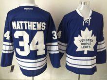 Mens Nhl Toronto Maple Leafs #34 Auston Matthews Blue 3rd Jersey