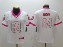 Women   Nfl Pittsburgh Steelers #84 Antonio Brown White Pink Color Rush Limited Jersey