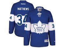 Mens Reebok Nhl Toronto Maple Leafs #34 Auston Matthews Blue 2017 Centennial Classic Jersey