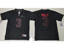Youth Ncaa Nfl Alabama Crimson Tide #3 Calvin Ridley Black Shadow Jersey