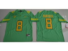 Mens Ncaa Nfl Oregon Ducks #8 Marcus Mariota Green Color Rush Limited Jersey