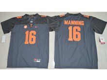 Youth Ncaa Nfl Tennessee Volunteers #16 Peyton Manning Black Limited Jersey