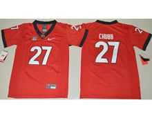 Youth Ncaa Nfl Georgia Bulldogs #27 Nick Chubb Red Jersey
