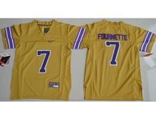 Youth Ncaa Nfl Lsu Tigers #7 Leonard Fournette Gold Limited Jersey