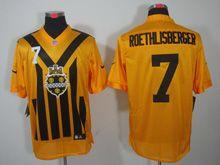 Mens   Nfl Pittsburgh Steelers #7 Ben Roethlisberger Yellow 1933 Classics Jersey