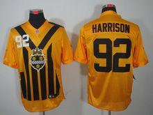 Mens   Nfl Pittsburgh Steelers #92 James Harrison Yellow 1933 Classics Jersey