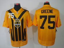 Mens   Nfl Pittsburgh Steelers #75 Greene Yellow 1933 Classics Jersey