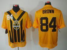Mens   Nfl Pittsburgh Steelers #84 Antonio Brown Yellow 1933 Classics Jersey