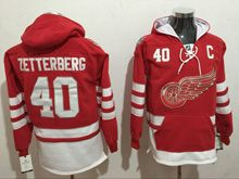 Mens Reebok Nhl Detroit Red Wings #40 Henrik Zetterberg Red Hoodie