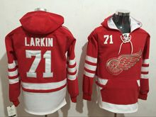 Mens Reebok Nhl Detroit Red Wings #71 Dylan Larkin Red Hoodie