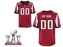 Mens Atlanta Falcons Red Current Player Elite Jersey