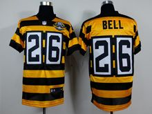 Mens   Pittsburgh Steelers #26 Leveon Bell Yellow 80th Elite Jersey